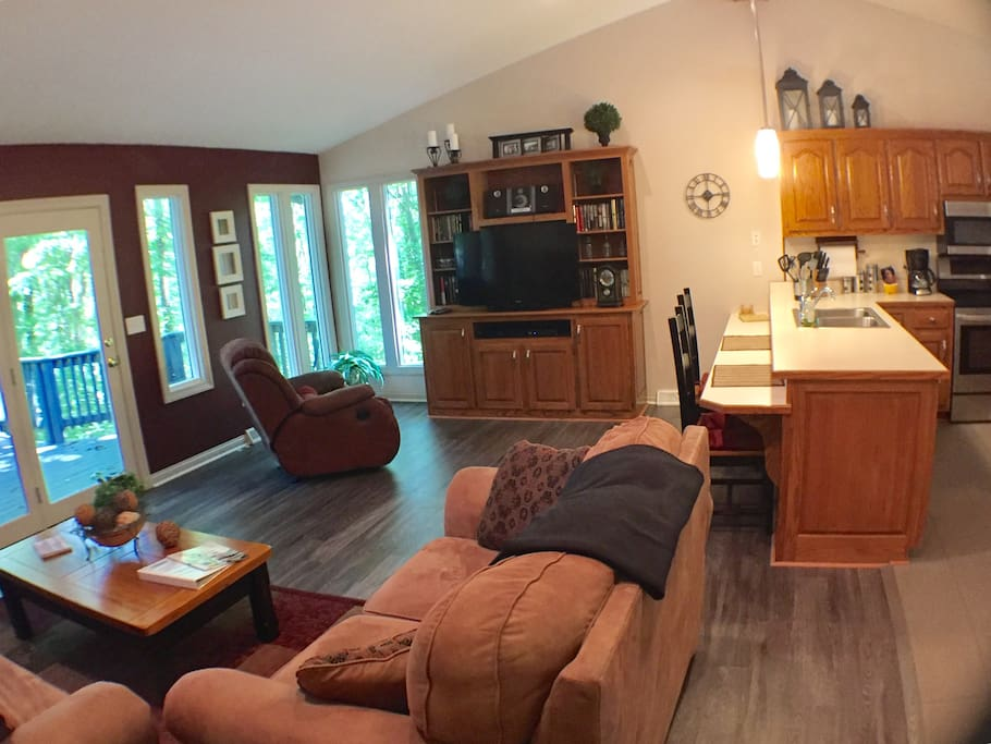 Large Open living/dining
