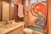 Rinse off in the second bathroom's magnificent walk-in shower.