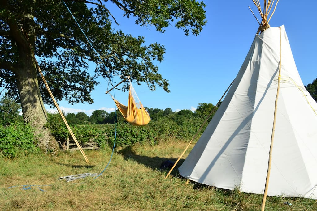Tipi during the day!