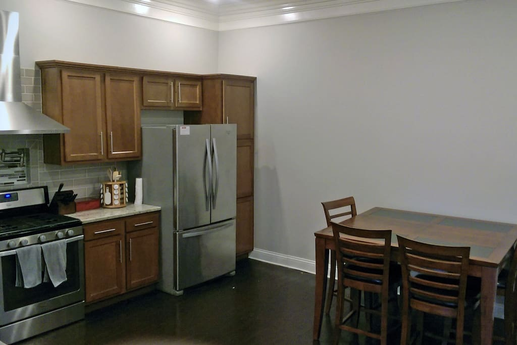 All new stainless steal appliances