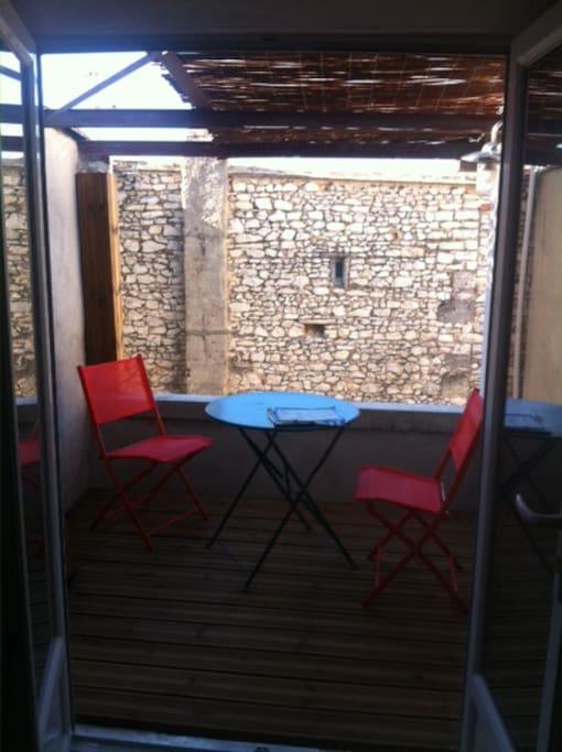 petite terrasse pour bain de soleil