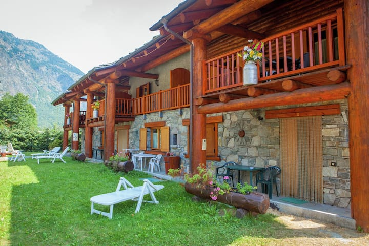 Chalet-village situated in a quiet area