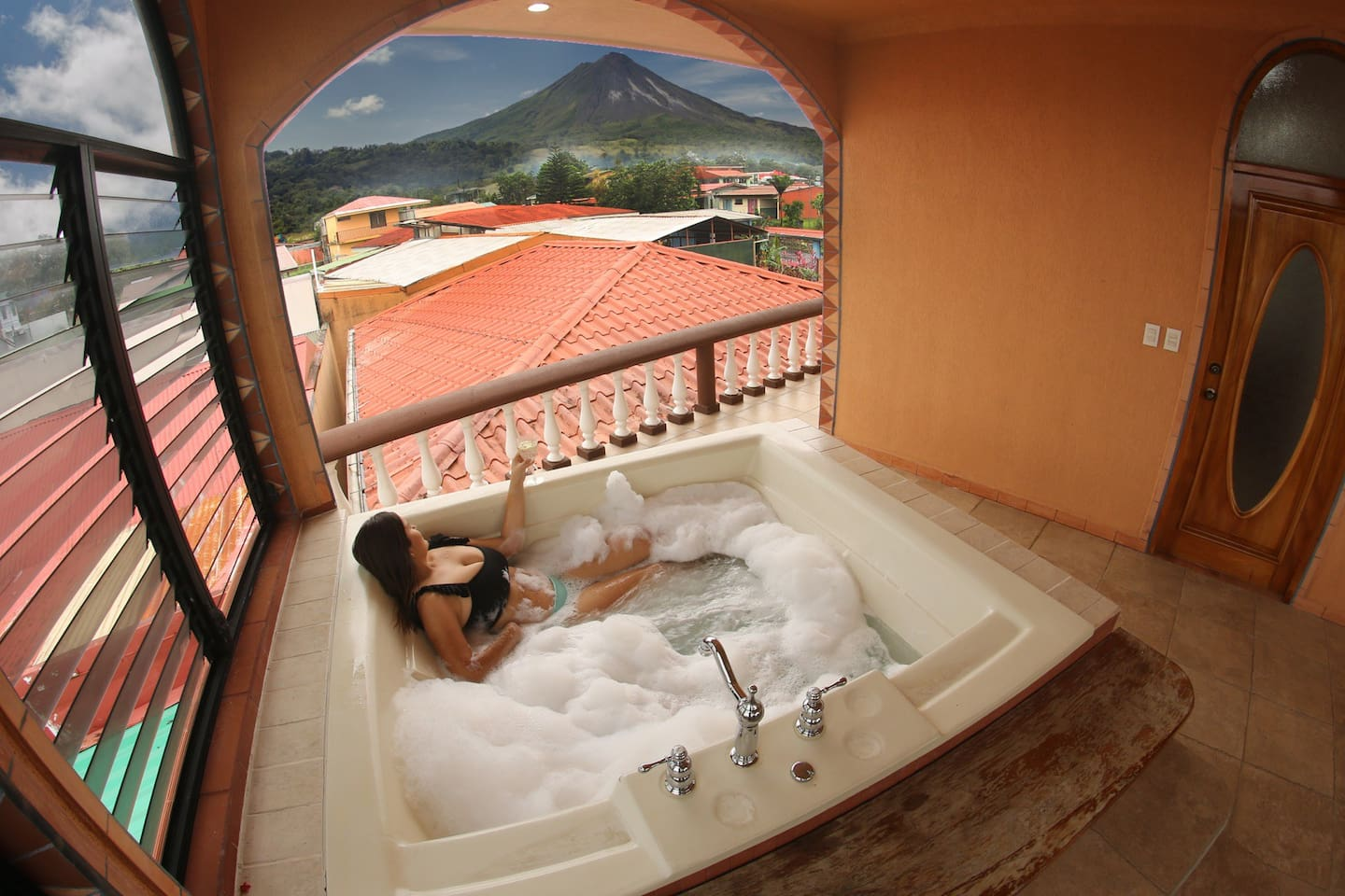 perfect view from the private jacuzzy    wait for the sunset like a king or queen
