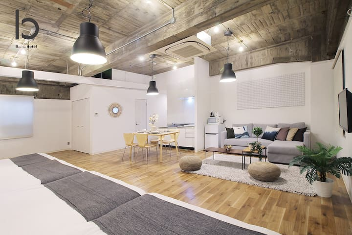 bHOTEL402  1BR Apt for 10ppl near Hondori Shopping