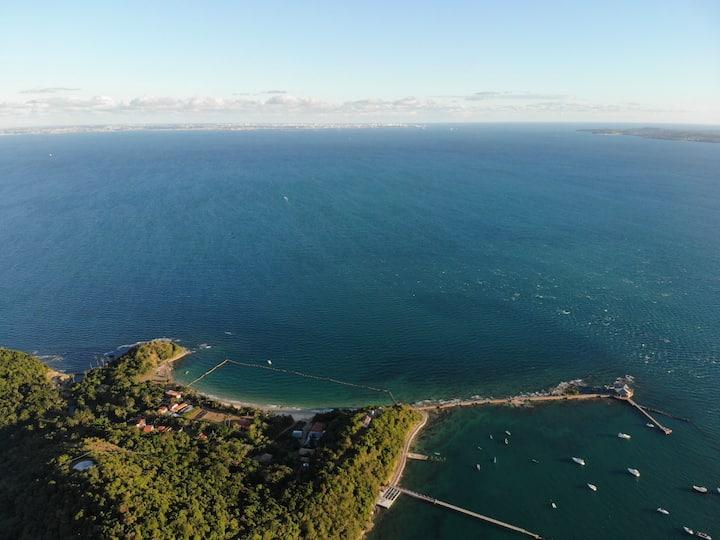 Um verdadeiro paraíso na Ilha dos Frades!!