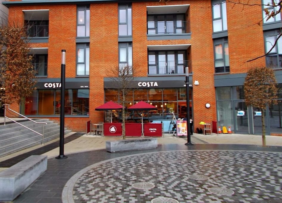 Sainsbury's courtyard with cafés and shops
