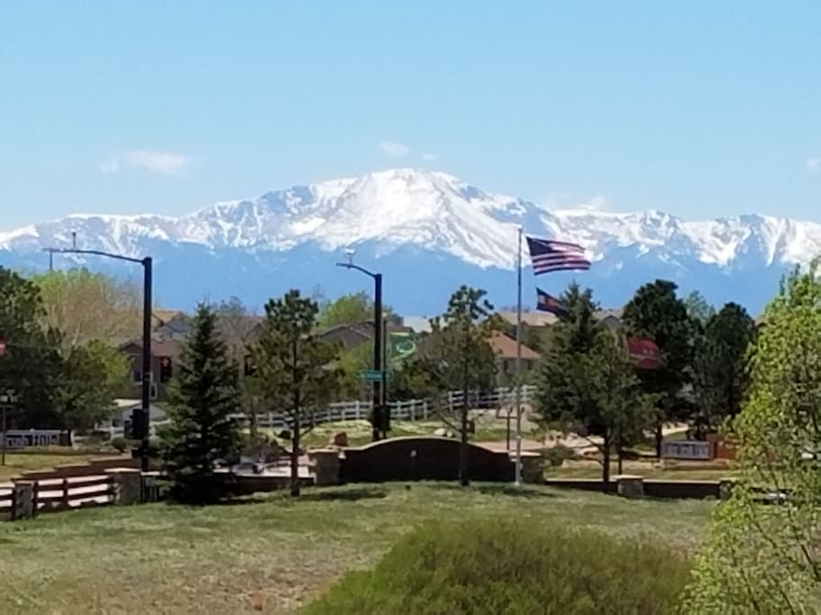Majestic Pikes Peak from the rear deck