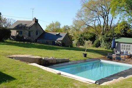 Maison piscine priv /port de foleux - Péaule - Rumah
