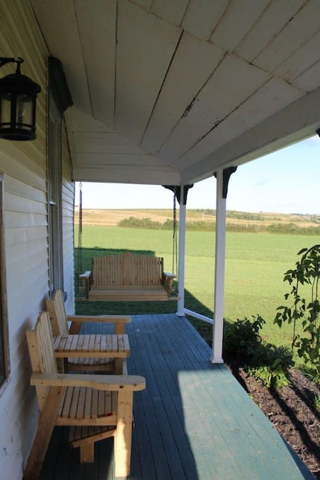 Enjoy the view from the front veranda