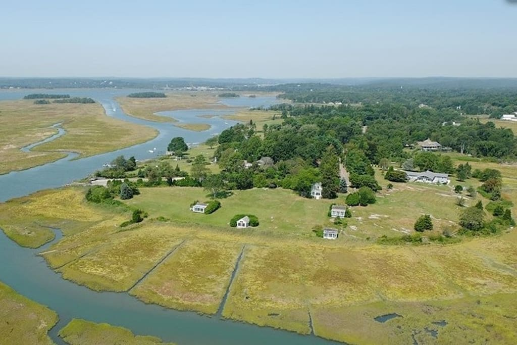 Aerial view of 47 Smiths Neck Rd.