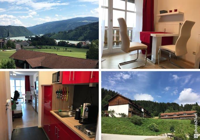 Donauparadies App. nähe Passau mit Panoramablick