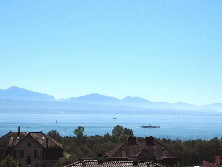 Lausanne, short walk from the lake.