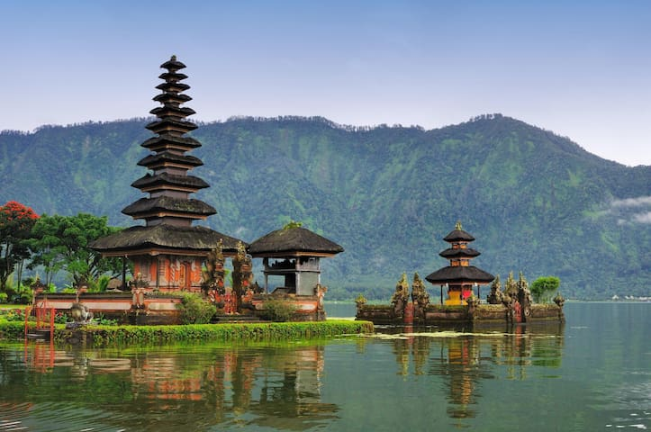 Central part of Bali: Bedugul. You can rent a car to go there