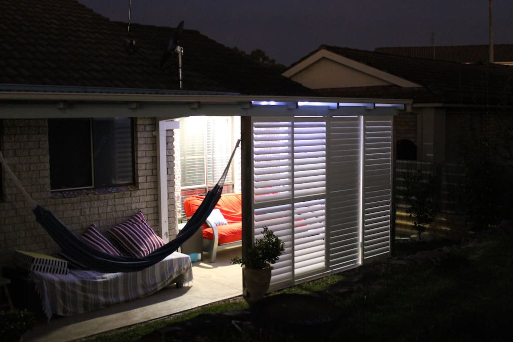 New louvers, that makes the outdoor area very inviting