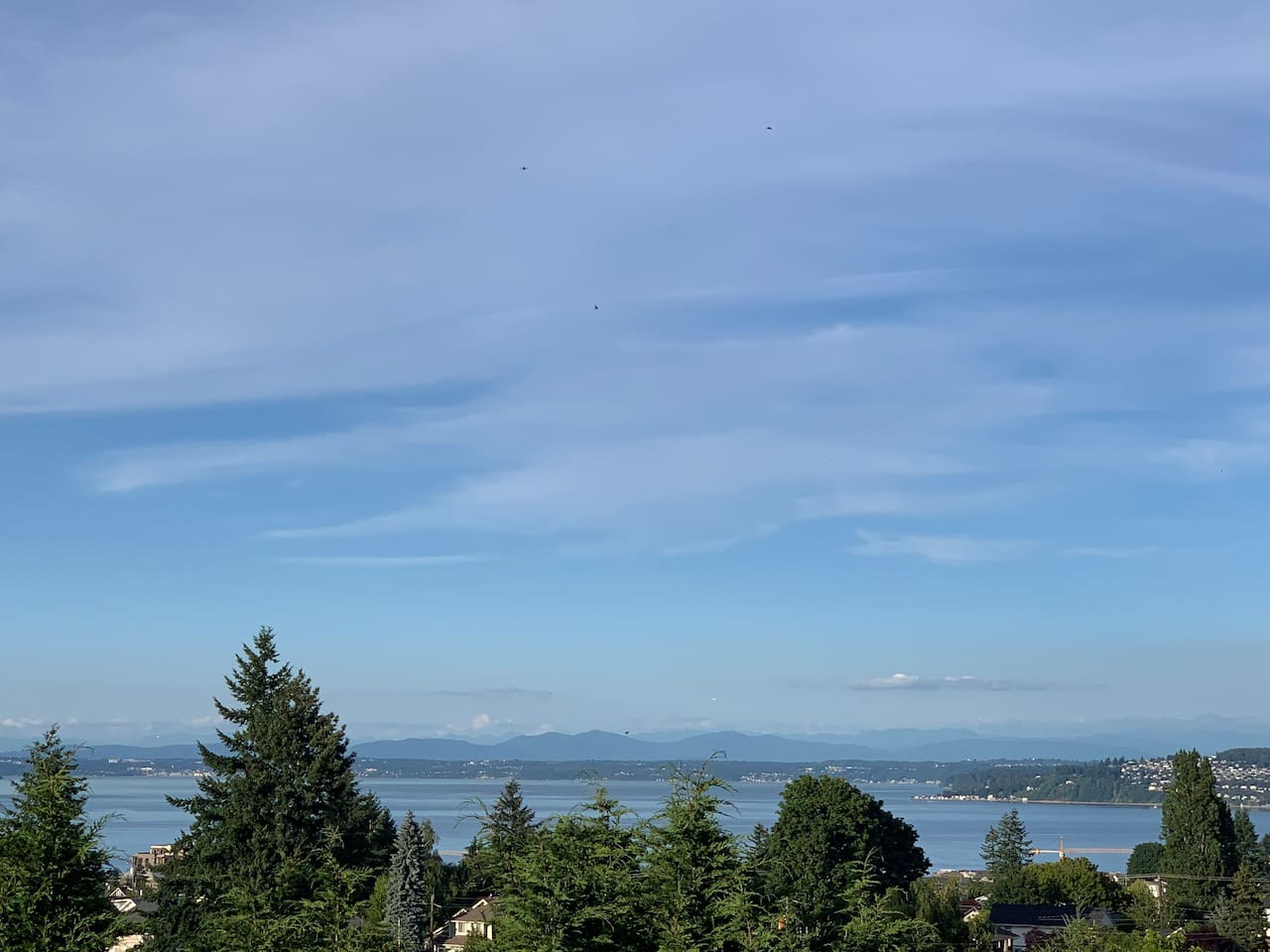 View of Commencement Bay looking east from bedroom deck.