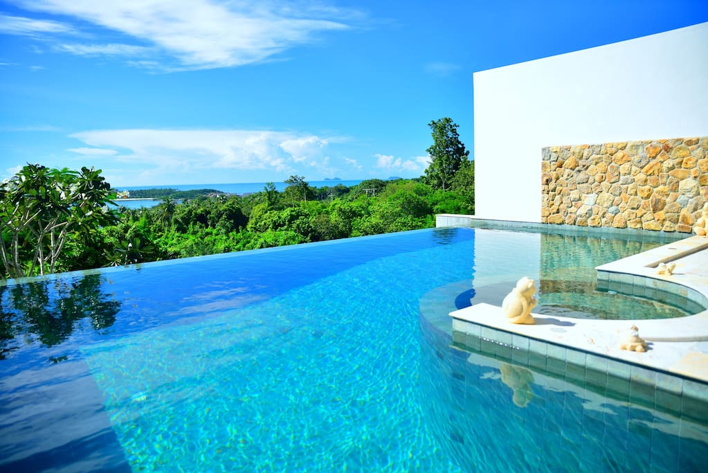 Villa haiyi with infinity pool villas for rent in koh for Villas with infinity pools