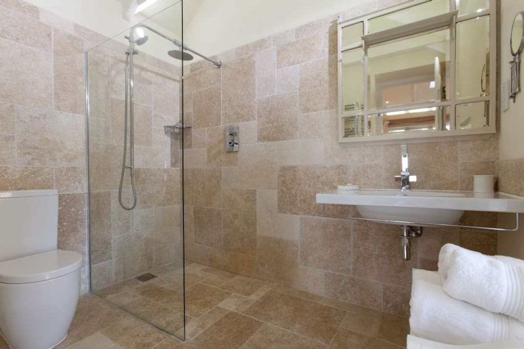 Beautifully finished, large walk in shower room