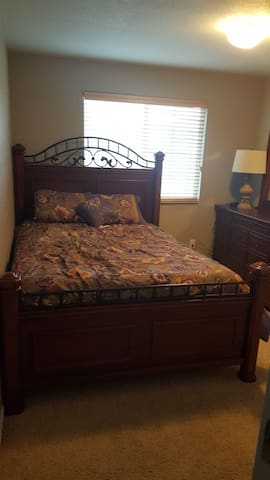 Private room #2 with queen bed. NO Cleaning fees