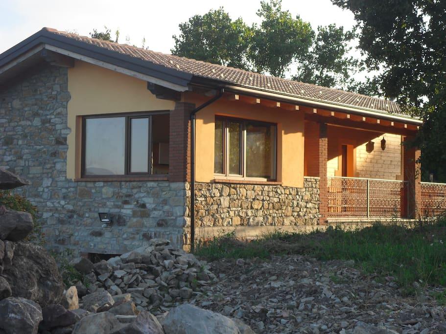 b&b finestre della veranda e terrazzo