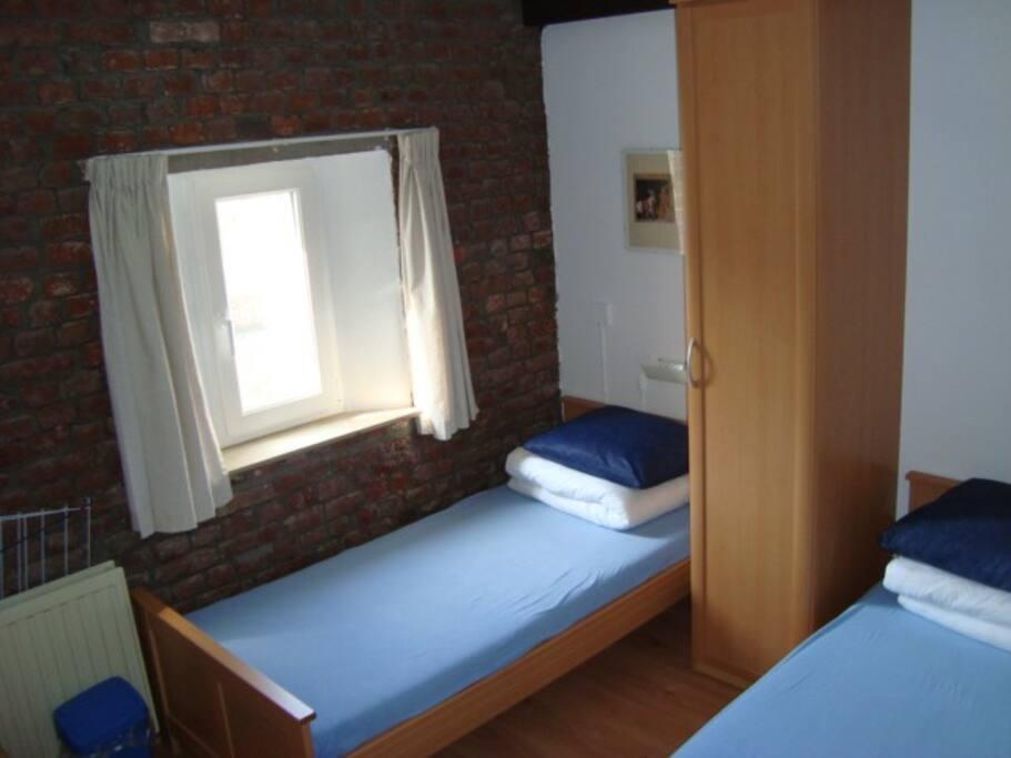 Kleine kamer zonder wastafel
