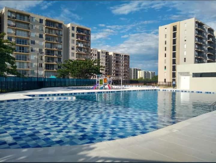 Acogedor Apartamento Amoblado con piscina.