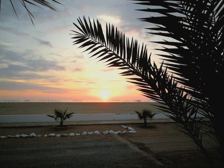 """Casa Playa """"Descanso Marino"""" Frente al Mar, 1 Fila"""