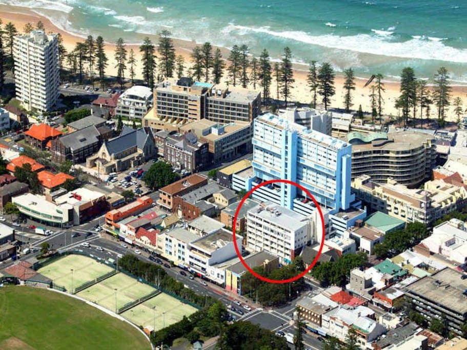 The  building is centrally located in Manly.