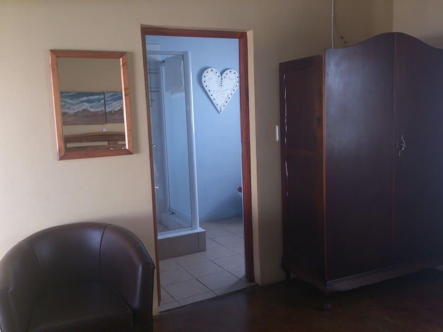 Bathroom on suite, room has own private entrance from the garden.
