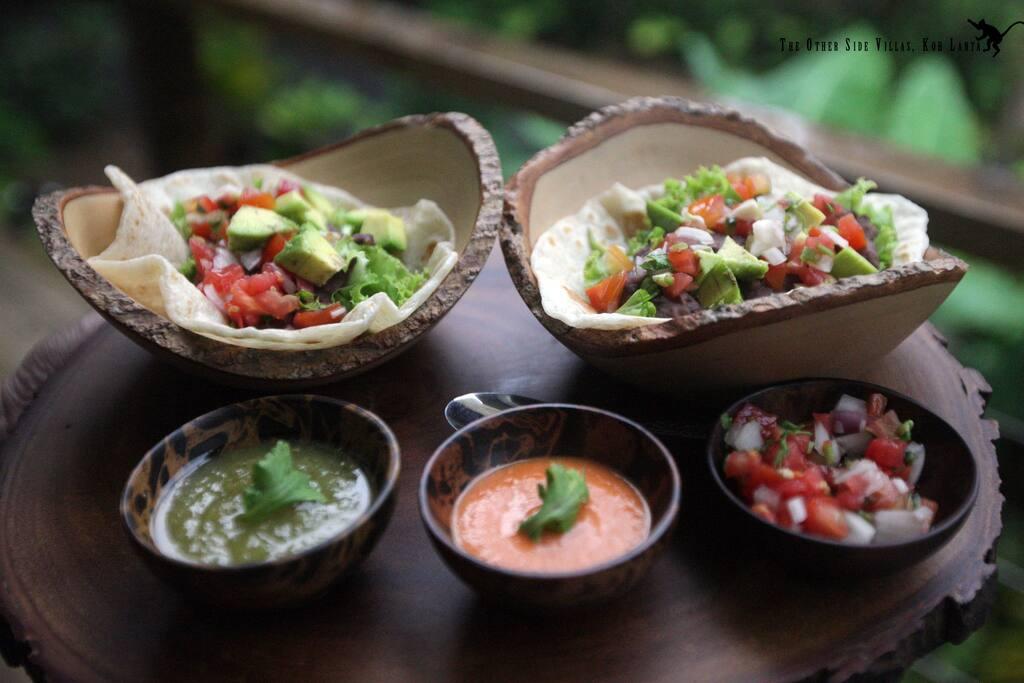 Vegan Homemade Baja Taco