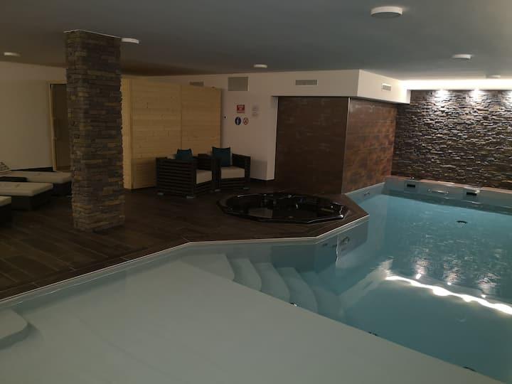 Crans Montana : Appartement au centre avec Spa