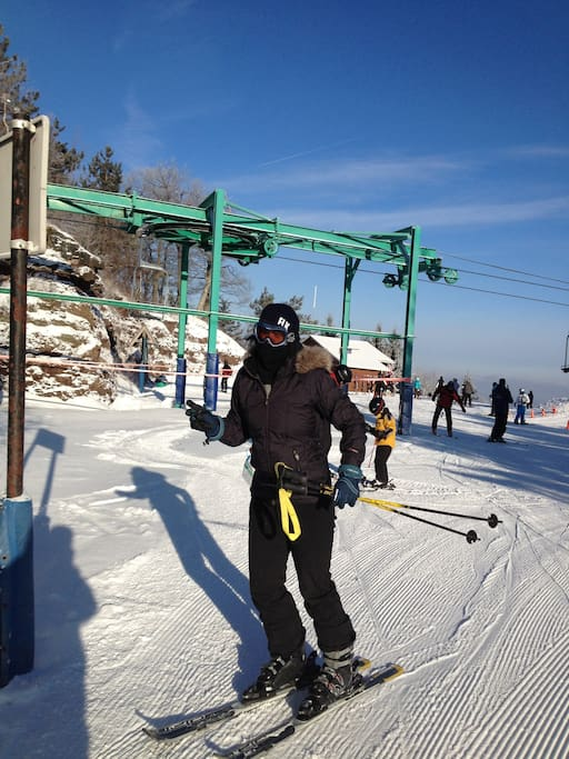 Skiing at Elk Mountain.