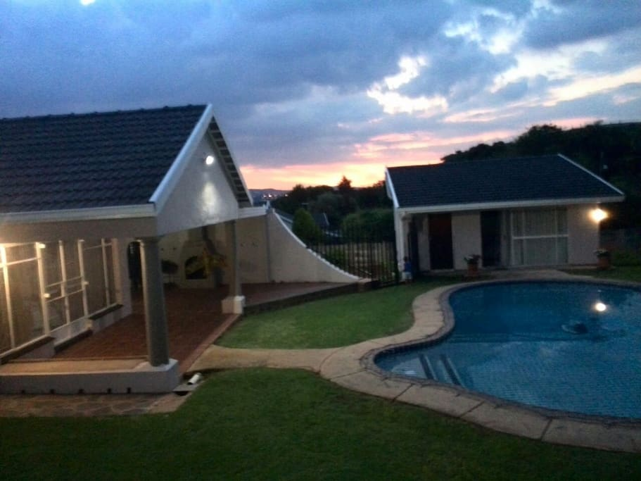 View of Cottage overlooking the Pool