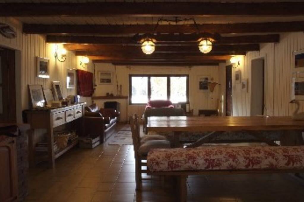 living room of the inn house. comfortable and cozy