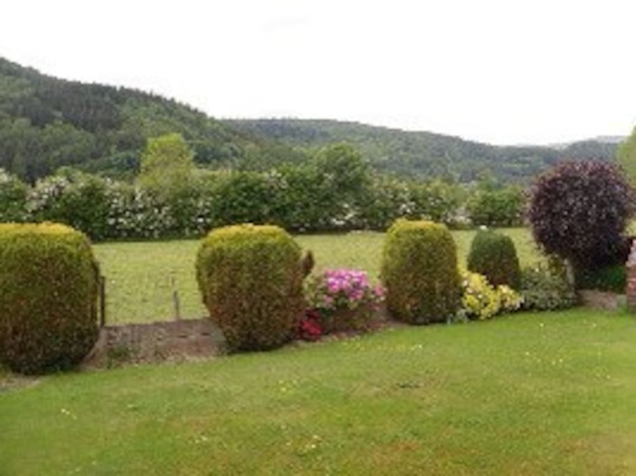 View of the Conwy Valley from the rear garden to the North.