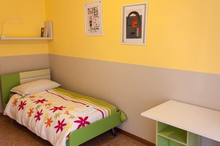 Camera Verde: Singola - Green Bedroom: Single
