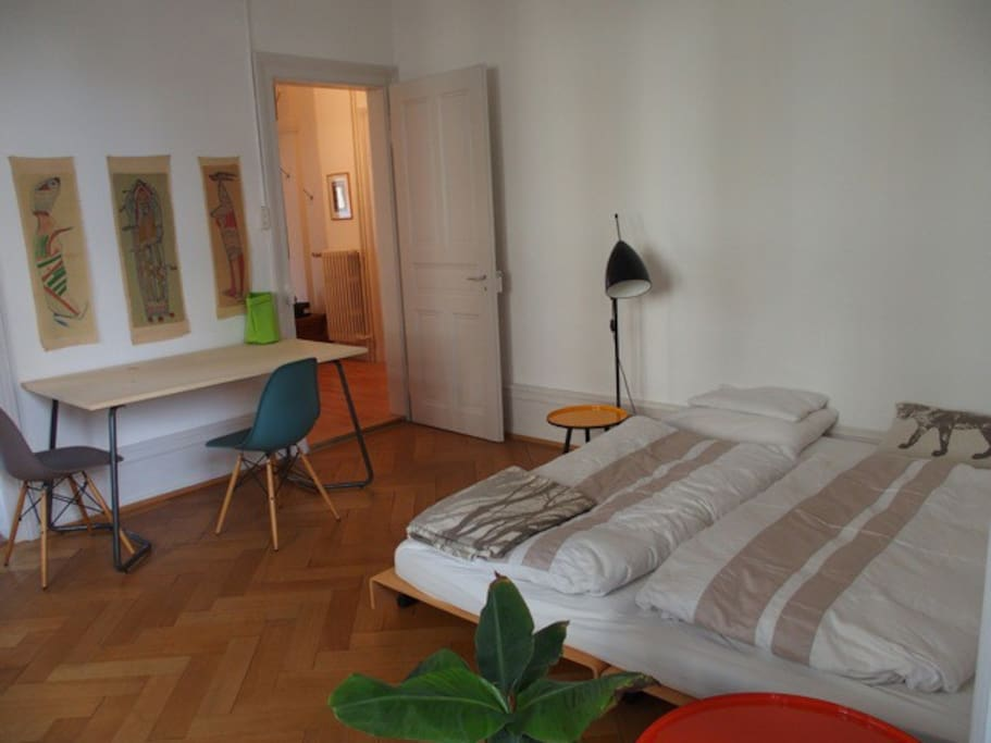 the studio is spacious and newly equipped with modern furniture