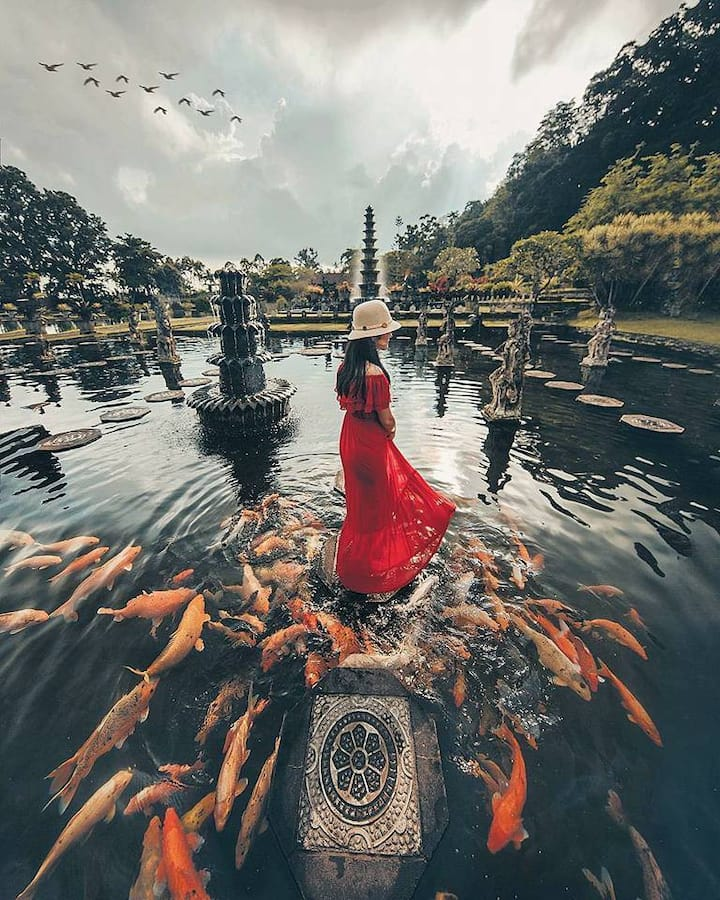 Tirta Ganga Water fontain