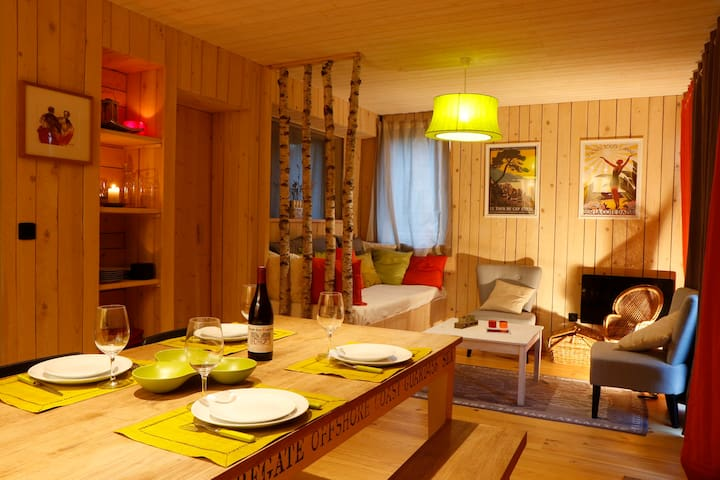 Wooden lodge with sauna, all comfort, Gap - La Roche-des-Arnauds - Xalet