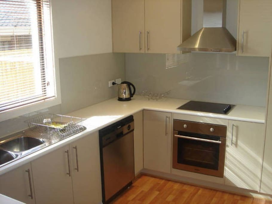 Fully appointed kitchen with modern appliances