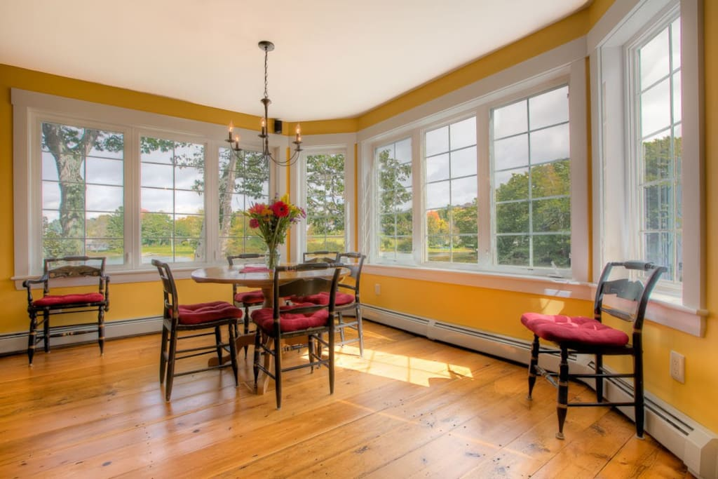 Kitchen Dining Area with old chairs pictured