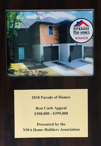 This home won an award in June 2018 at the largest home show in NWA!