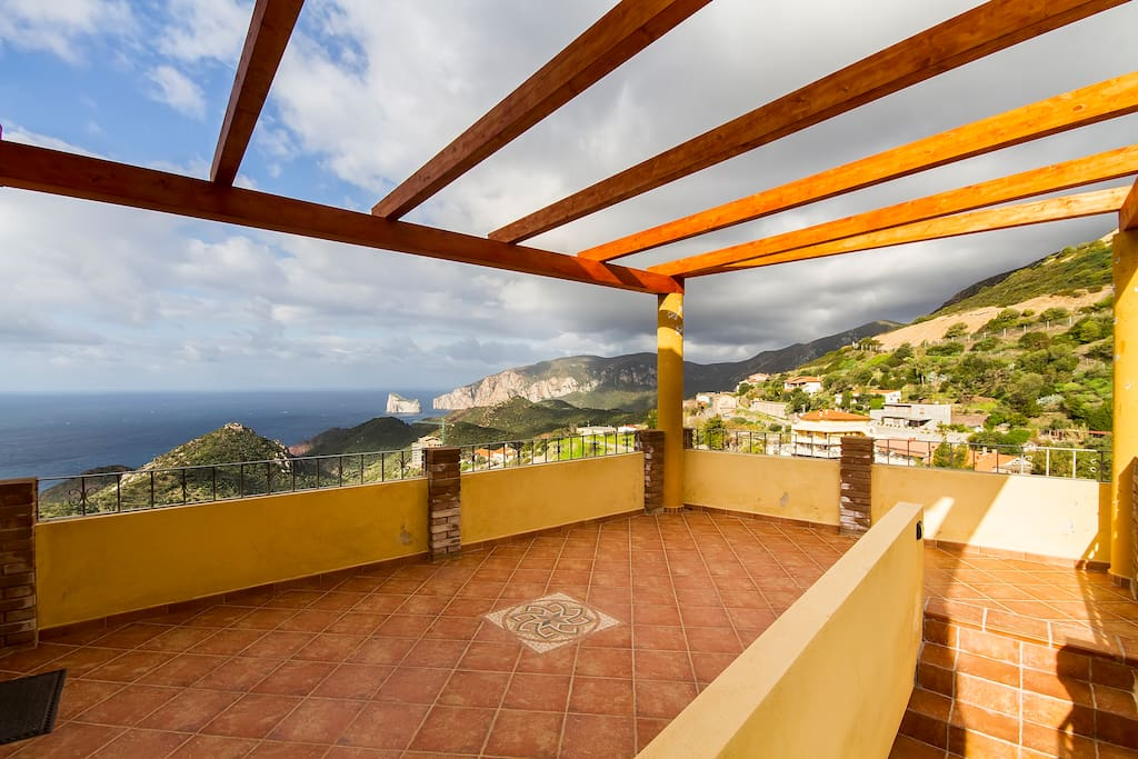 Our terrace and the breathtaking view