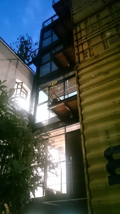 Balconies from ground floor