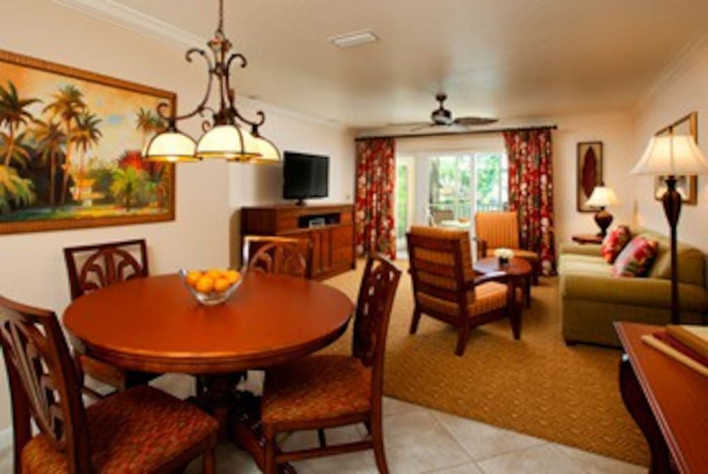 Dining, living room space