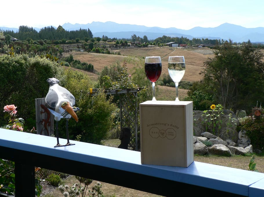 Enjoy a local wine and admire the view
