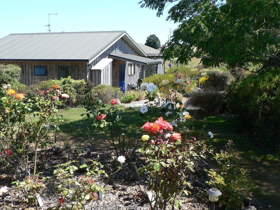 Cottage through one of the rose gardens