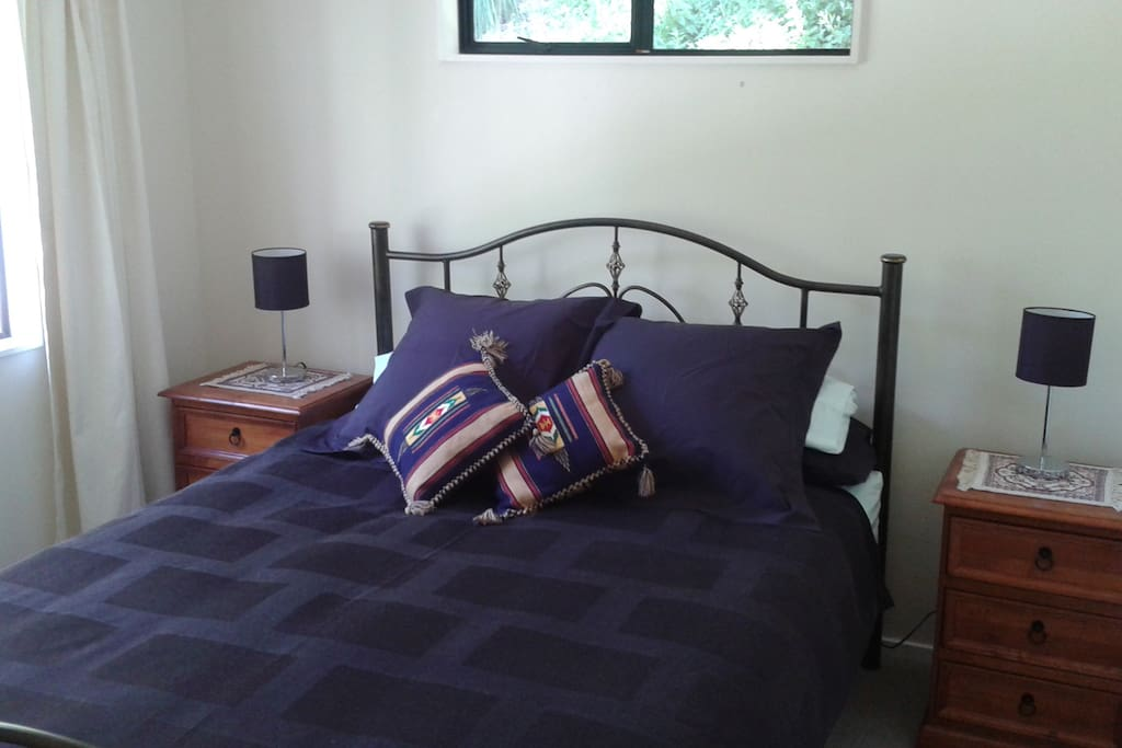 Your private bedroom has double wardrobe space and is lockable.