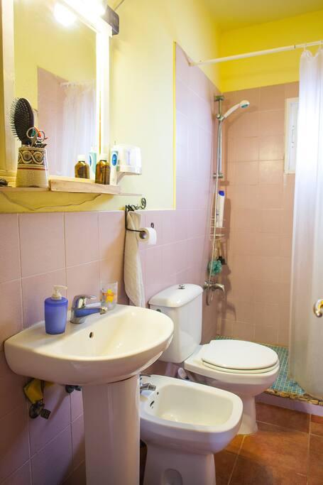 Baño privado en la puerta contigua al dormitorio