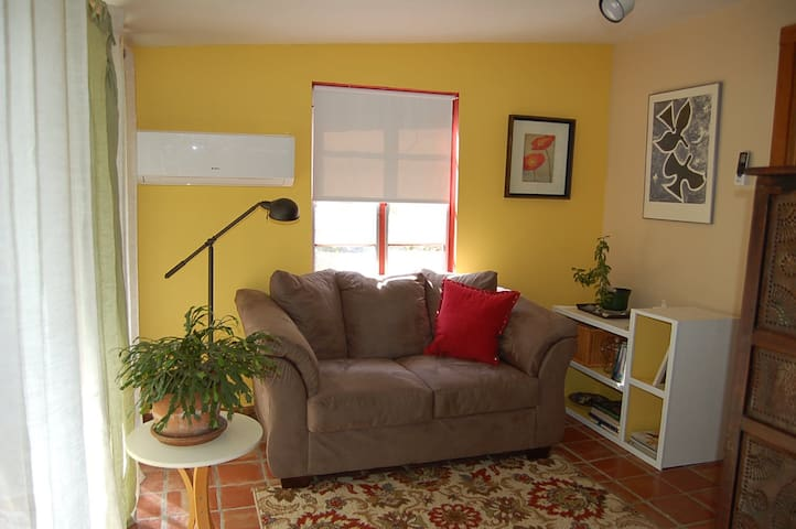 The mini-split heat/AC on the sunporch offers extra comfort in the summer and winter.