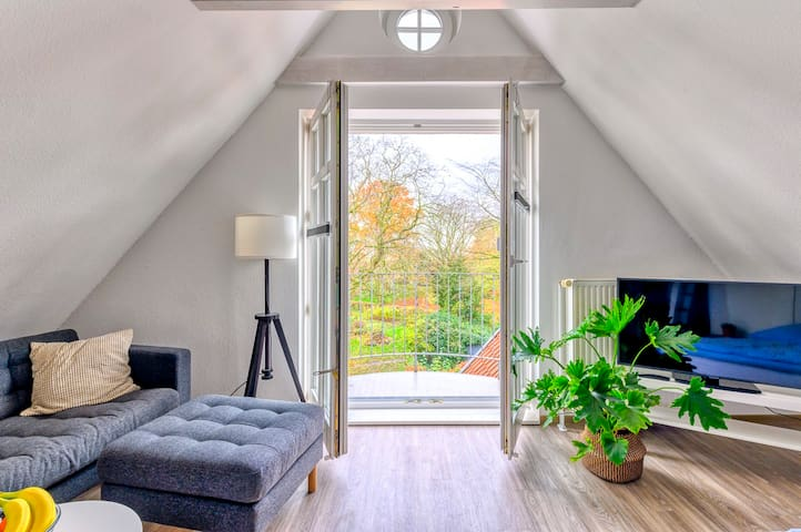 Beautiful top Floor Studio with Balcony and a View